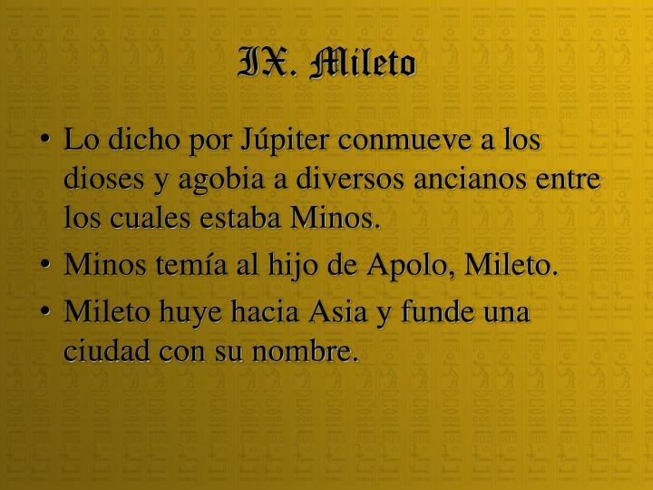 IX. Mileto