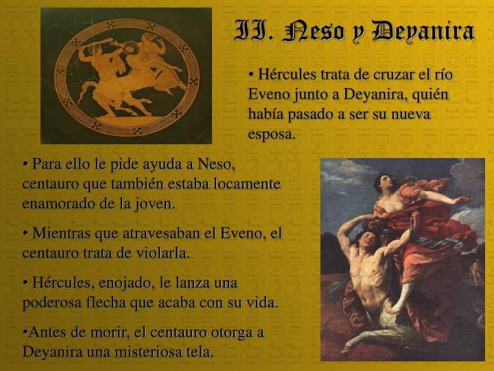 II. Neso y Deyanira