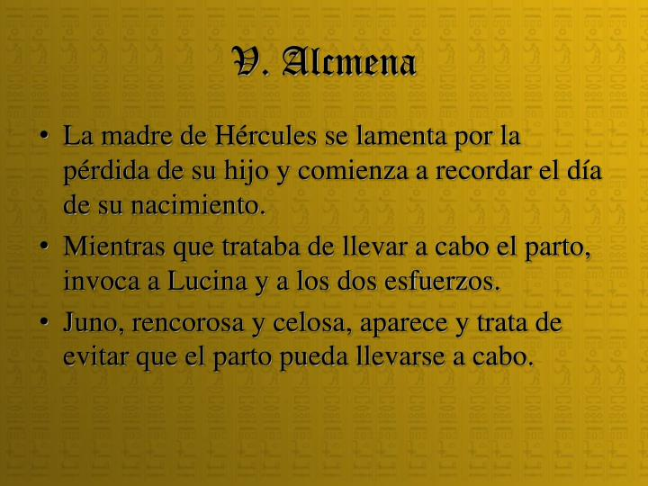 V. Alcmena