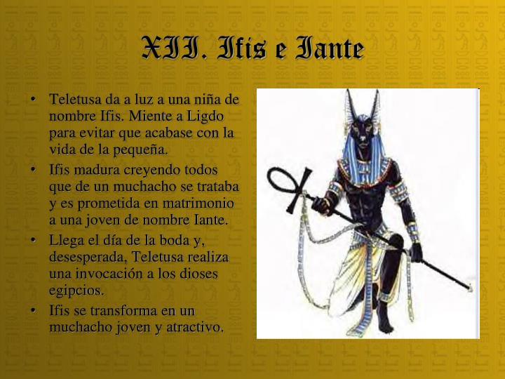 XII. Ifis e Iante