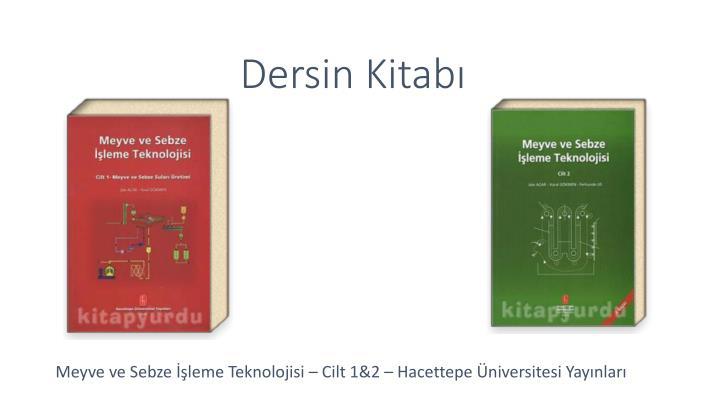 Dersin Kitabı