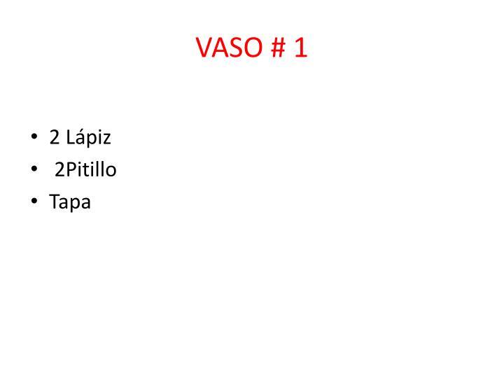 VASO # 1