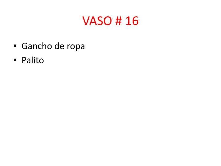 VASO # 16