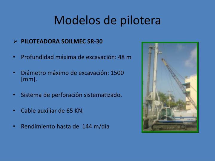 Modelos de pilotera