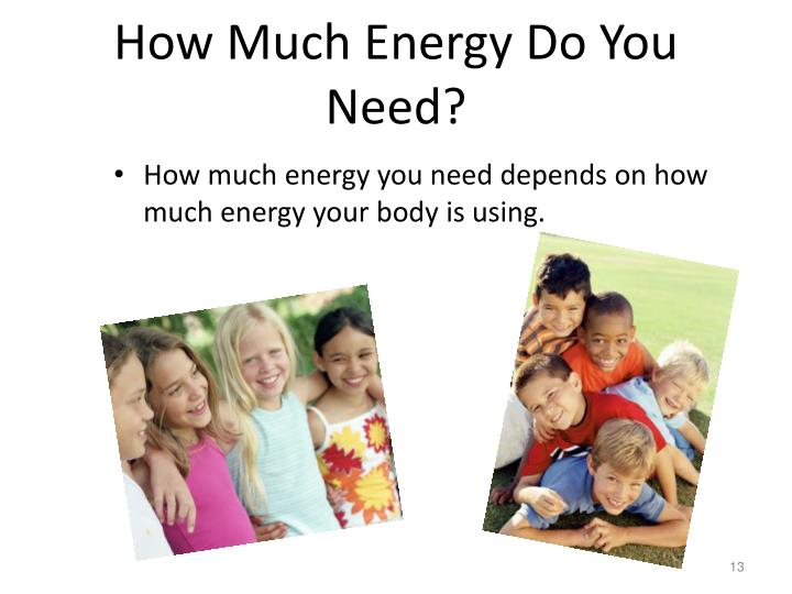 How Much Energy Do You Need?