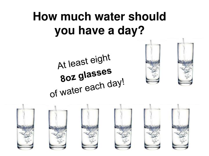 How much water should