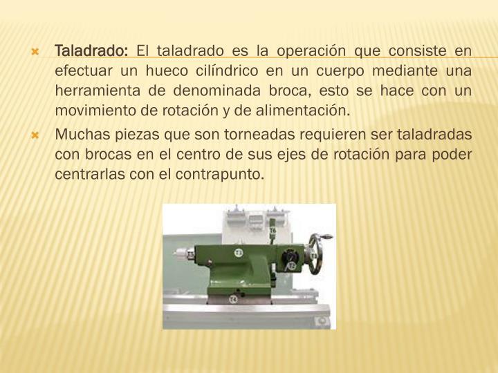 Taladrado: