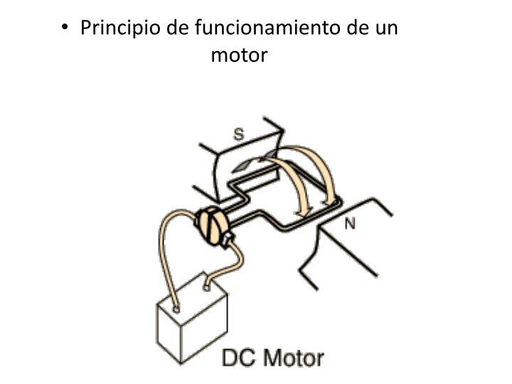 Principio de funcionamiento de un motor