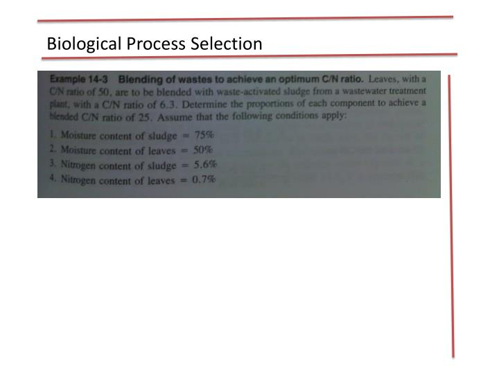 Biological Process Selection