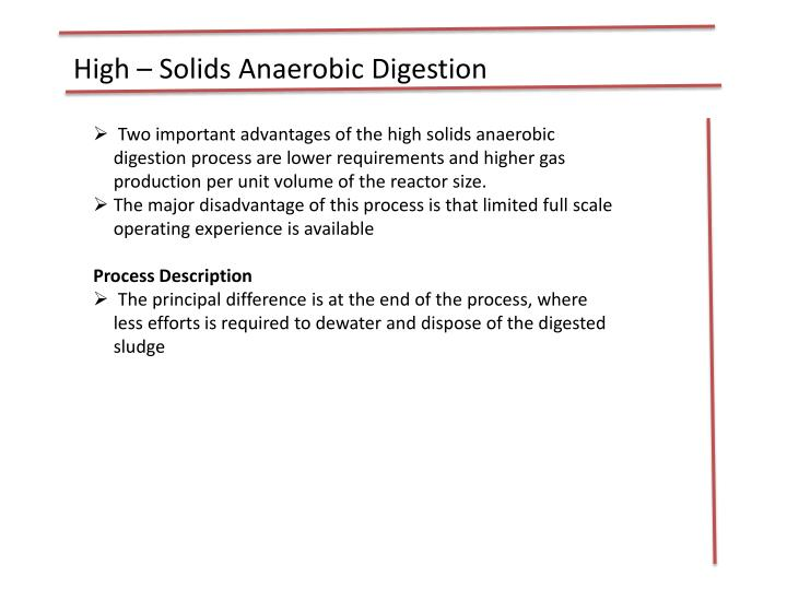 High – Solids Anaerobic Digestion