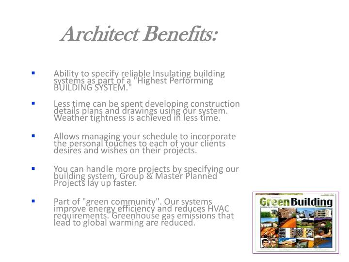 Architect Benefits: