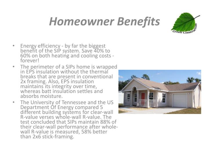 Homeowner Benefits