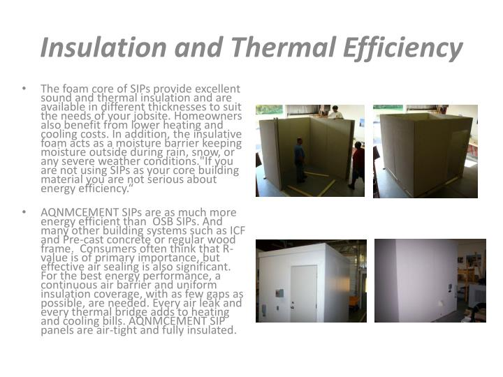 Insulation and Thermal Efficiency