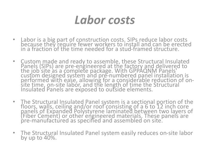 Labor costs