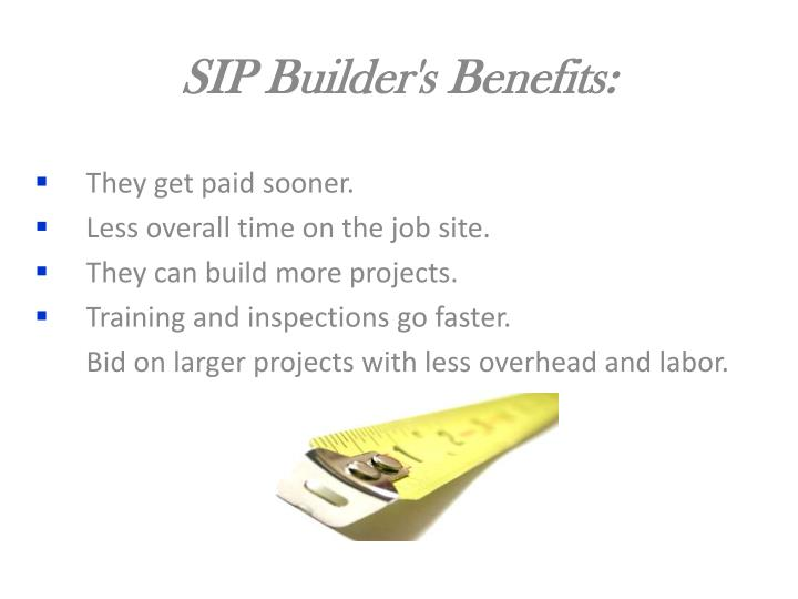 SIP Builder's Benefits: