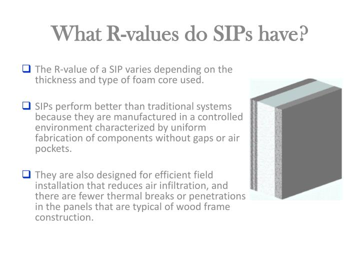 What R-values do SIPs have?