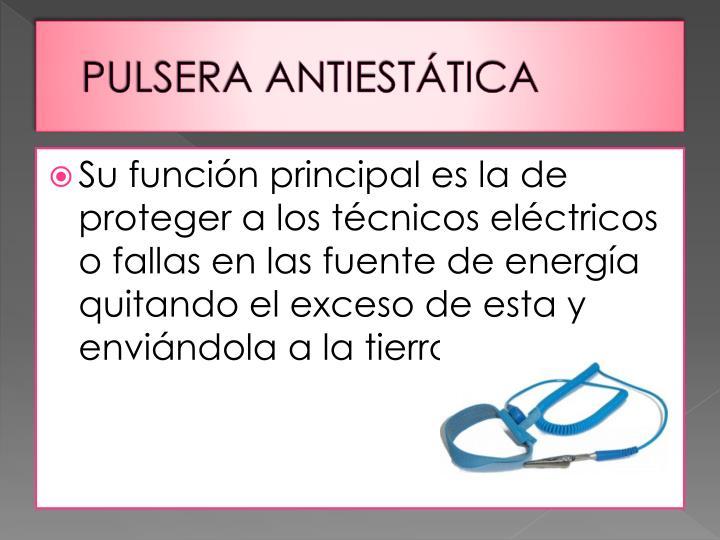 PULSERA ANTIESTÁTICA
