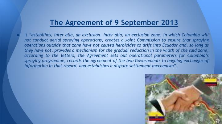 The Agreement of 9 September 2013