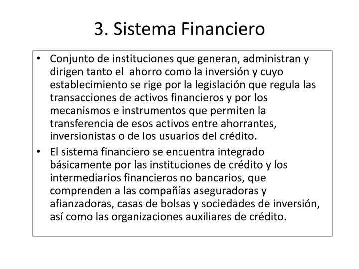 3. Sistema Financiero