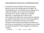 intermediaci n financiera y actividad bancaria