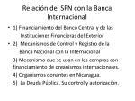 relaci n del sfn con la banca internacional