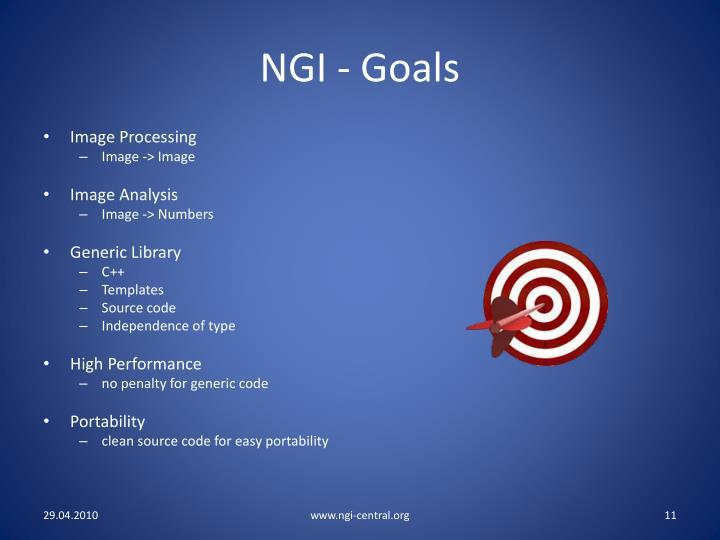 NGI - Goals