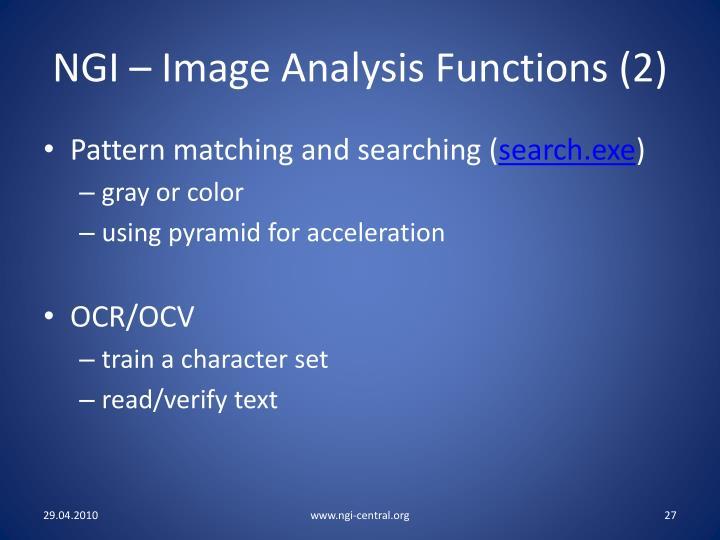 NGI – Image Analysis