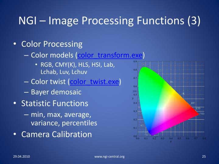 NGI – Image Processing