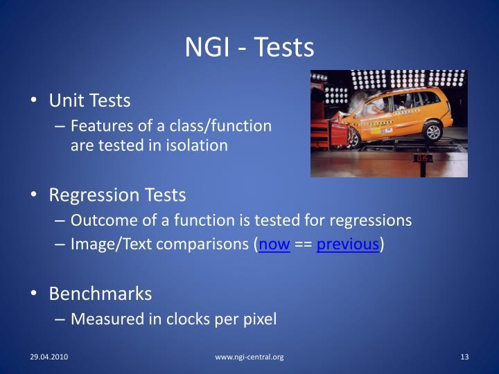 NGI - Tests