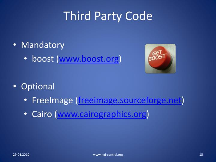 Third Party Code