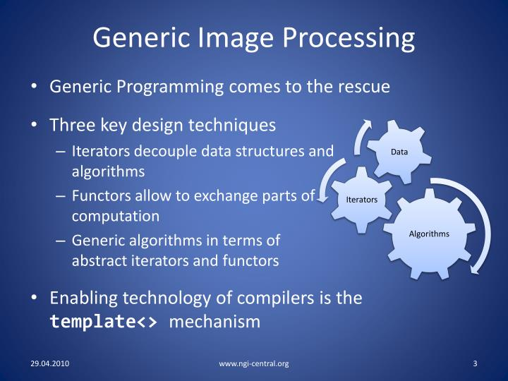 Generic Image Processing