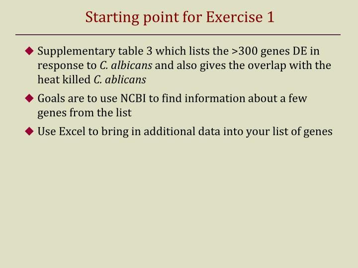 Starting point for Exercise 1