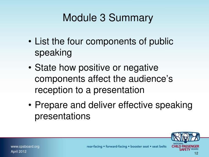 Module 3 Summary