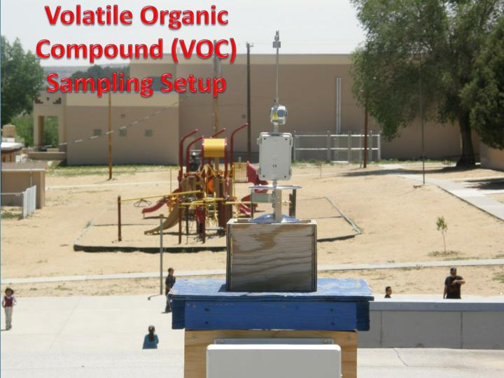 Volatile Organic Compound (VOC) Sampling Setup
