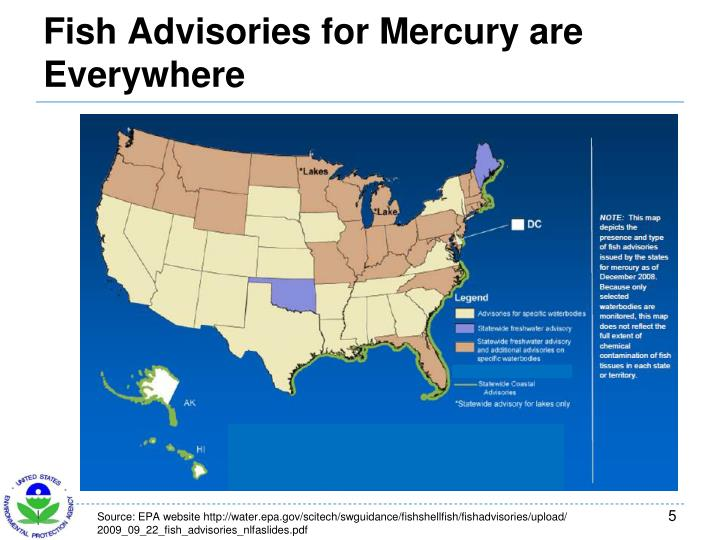 Fish Advisories for Mercury are Everywhere