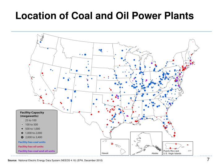 Location of Coal and Oil Power Plants