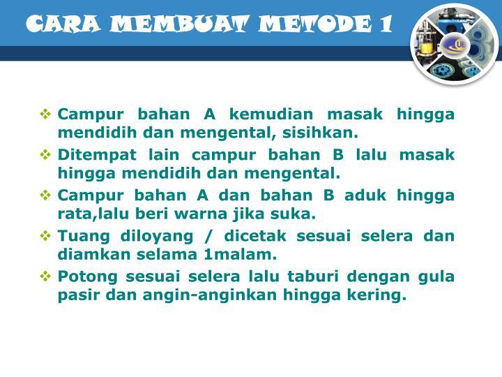 CARA MEMBUAT METODE 1