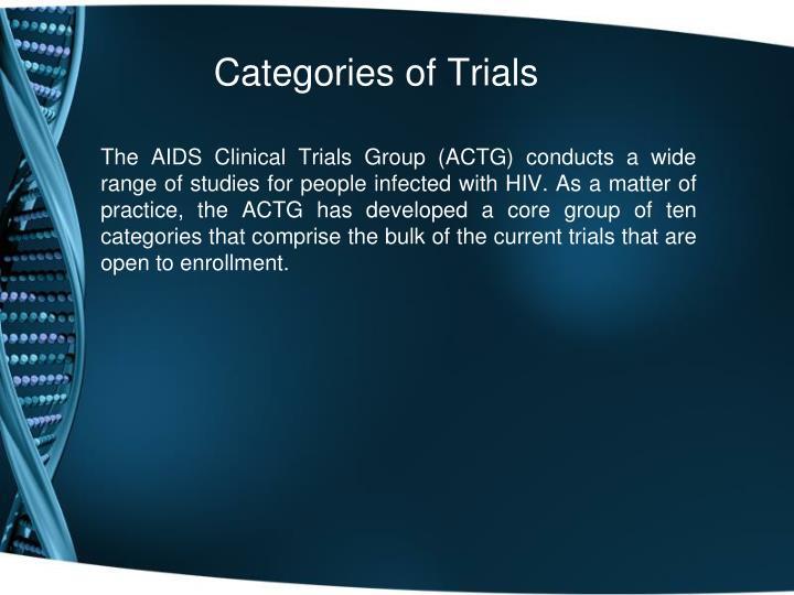 Categories of Trials