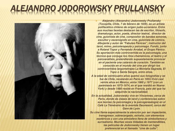 Alejandro Jodorowsky Prullansky