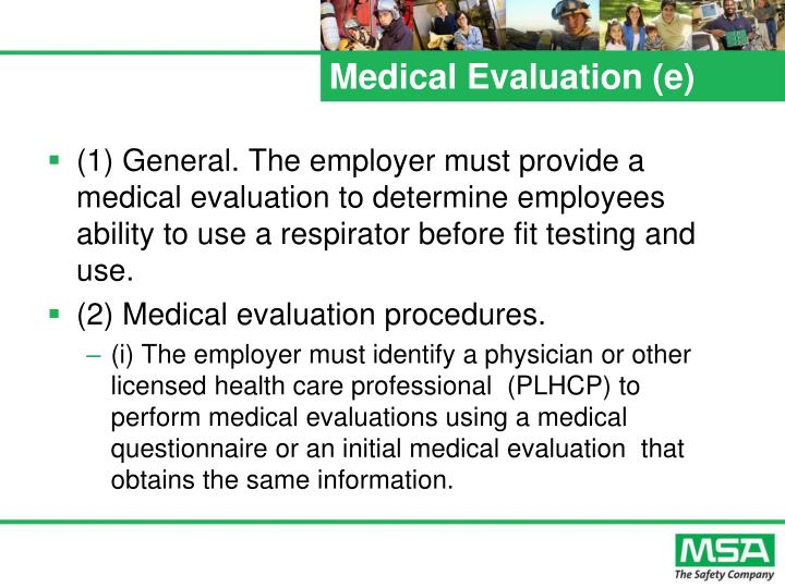 Medical Evaluation (e)