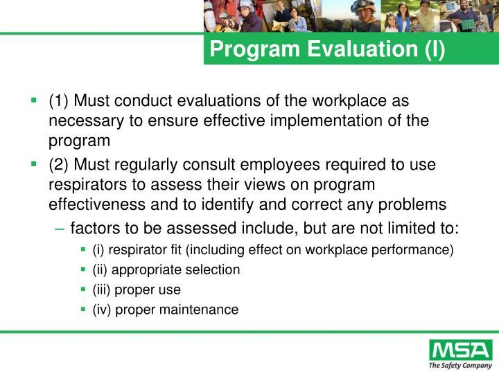 Program Evaluation (l)