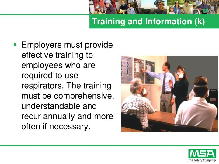 Training and Information (k)