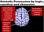 aristotle persuasion by logic emotion and character