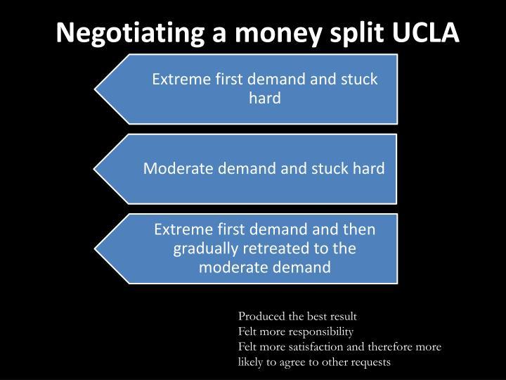 Negotiating a money split UCLA
