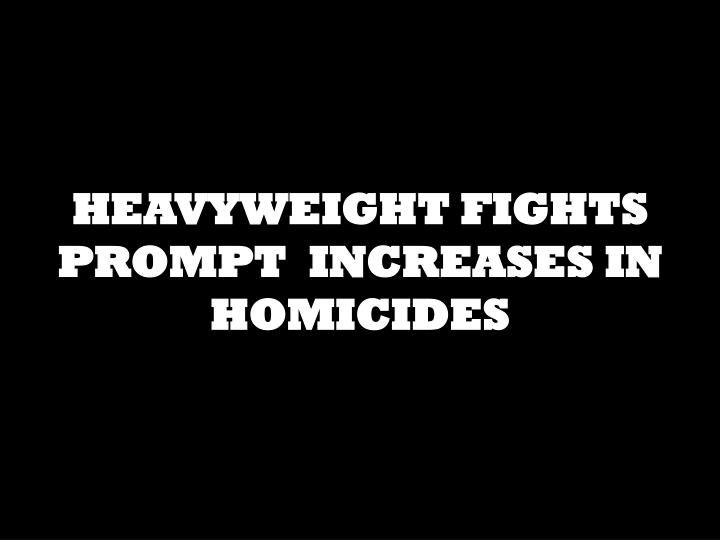 HEAVYWEIGHT FIGHTS