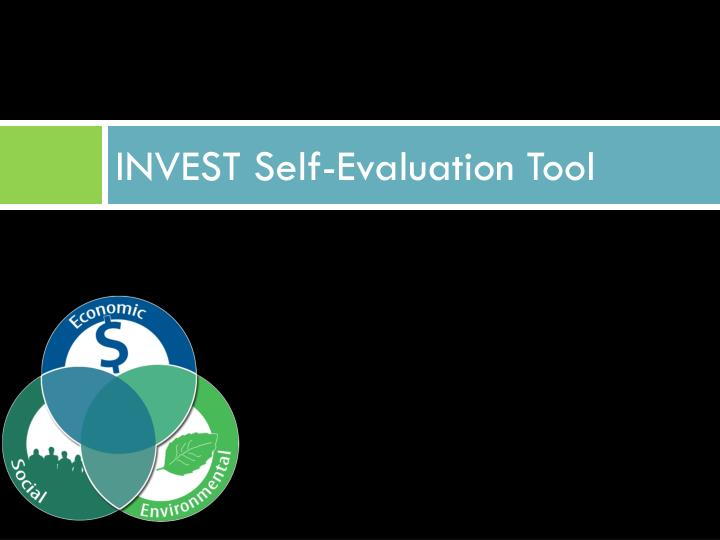INVEST Self-Evaluation Tool
