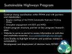sustainable highways program
