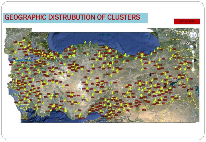 GEOGRAPHIC DISTRUBUTION OF CLUSTERS