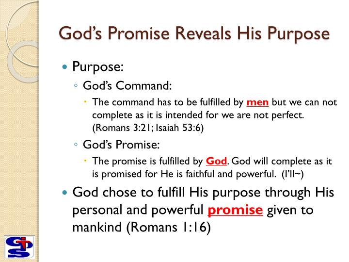 God s promise reveals his purpose