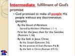 intermediate fulfillment of god s promise
